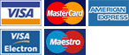Credit card logos accepted by Arundel Executive Cars